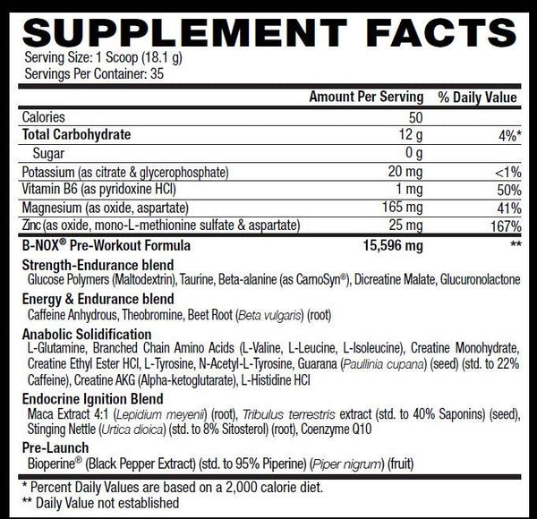 bnox supplement facts