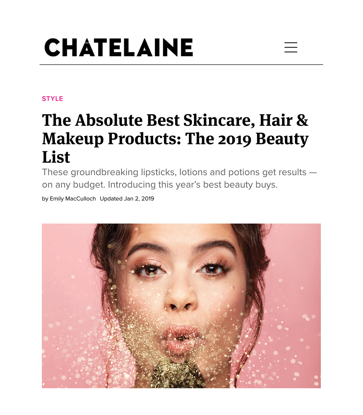 1fa67126591 Chatelaine  The Absolute Best Skincare