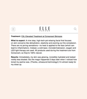 Elle Canada: The 3 Facials I Got The Month Before My Wedding
