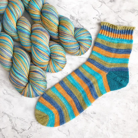 Stripes For All: Summers End Self Striping Sock Yarn 100g/400M