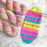 Stay Bright Self Striping Sock Yarn
