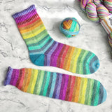 Pre-order Double Rainbow Self Striping Sock Yarn Luxury or Regular