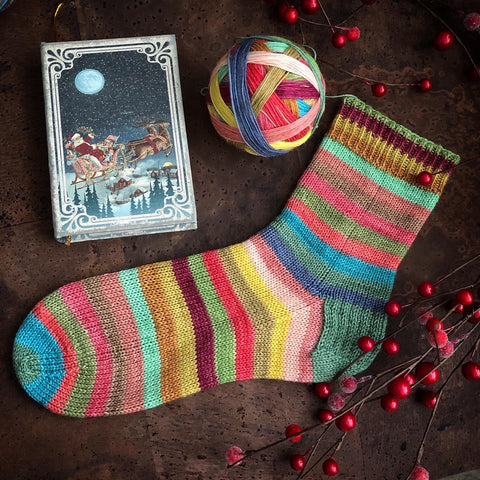 Festive Fable Self Striping Sock Yarn 100g/400M