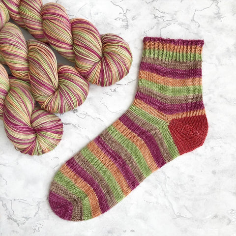 Stripes For All: Garden Path Self Striping Sock Yarn 100g/400M