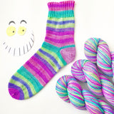 Wonderland Self Striping Sock Yarn 100g