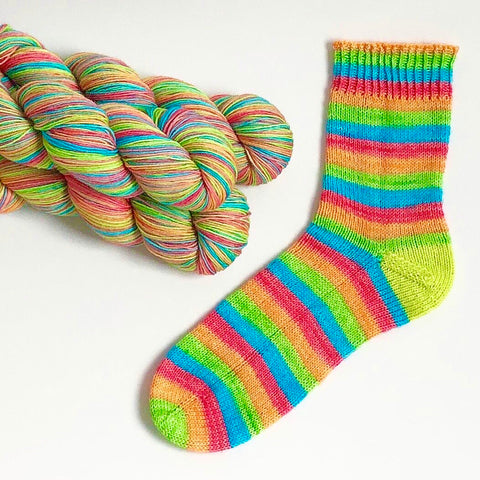 Stripes For All: Swirly Pop Self Striping Sock Yarn 100g 400M