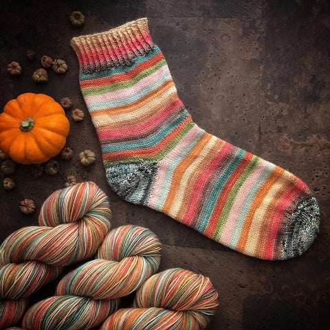 Pumpkin Patch 10 Stripes Sock Yarn