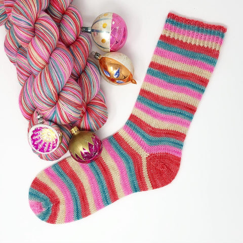 Stripes for All: Bauble Magpie Self Striping Sock Yarn 100g