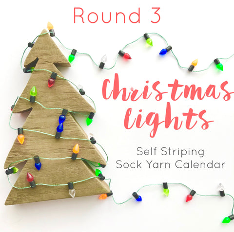 Round 3 Pre-order: Christmas Lights Sock Yarn Advent Calendar