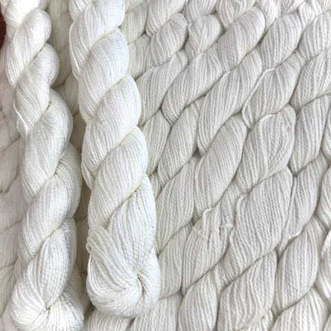 20g natural white mini skein 80M Sock yarn