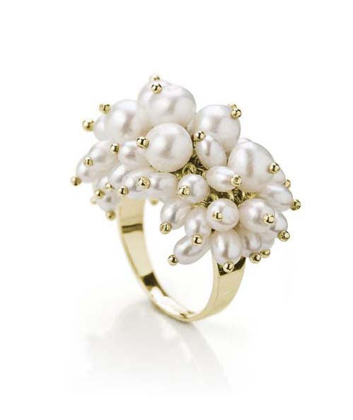 freshwater cluster pearl ring
