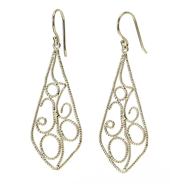 Baroque Pointed Raindrop Earrings
