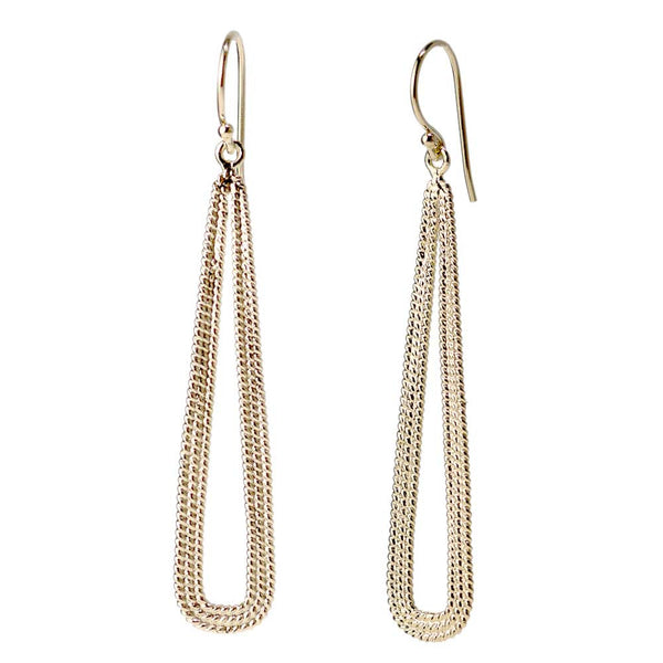 Elongated Drop Rope Earrings