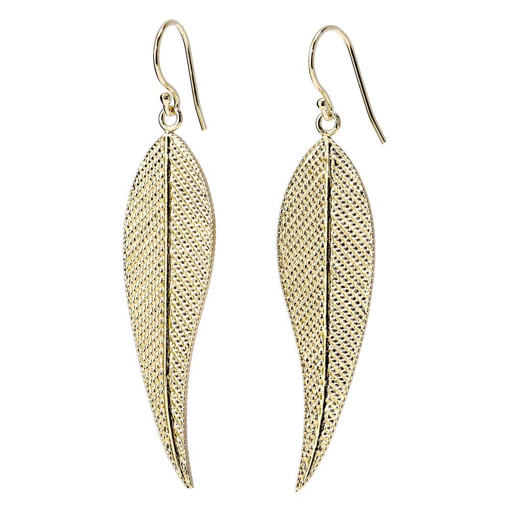Long Feather Rope Earrings