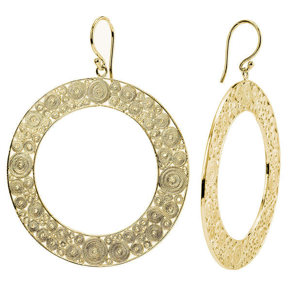 Infinity Filigree Hoop Earrings