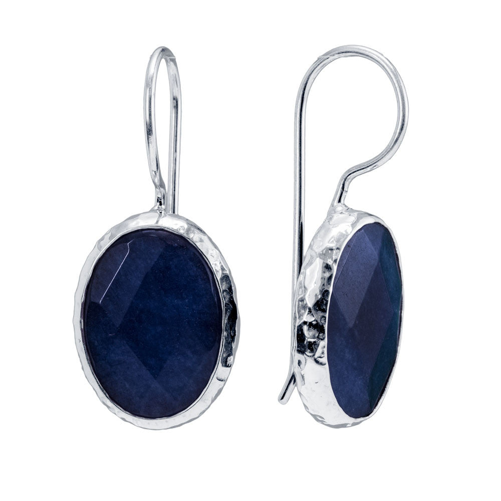 Midnight Blue Jade Earrings