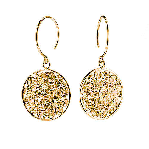 Infinity Filigree Coin Earrings