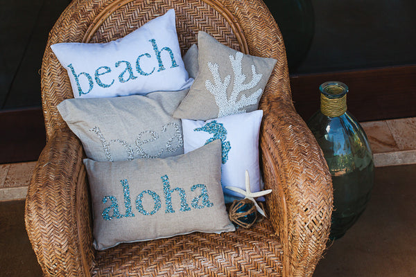 Beach Beaded Text