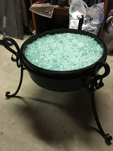 "ALASKA FIREPLACE $2500.00 CERTIFICATE VALID FOR (1) OUTDOOR GAS FREE STANDING CAST IRON FIRE PIT 21"" IN DIAMETER 7 INCH DEEP"