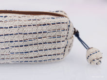 Load image into Gallery viewer, Pencil case, hand spun handwoven cotton