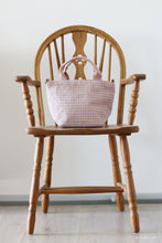 Load image into Gallery viewer, Handwoven cotton bag, light purple/brown