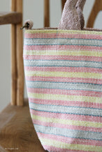 Load image into Gallery viewer, Handwoven cotton bag, tropical stripes