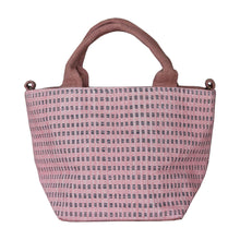 Load image into Gallery viewer, Handwoven cotton bag, pink/purple