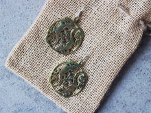 Load image into Gallery viewer, Lizzard earrings made from old bullet casings, Angkor Bullet