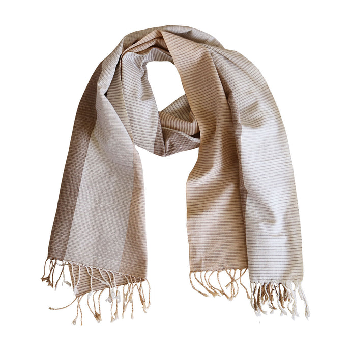 Chimmuwa handwoven cotton scarf - fair fashion - Mitzie Mee