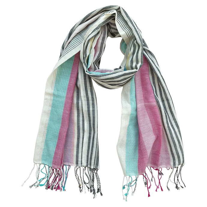 Crazy Krama, Handwoven cotton scarf, Weavers Project, fair fashion