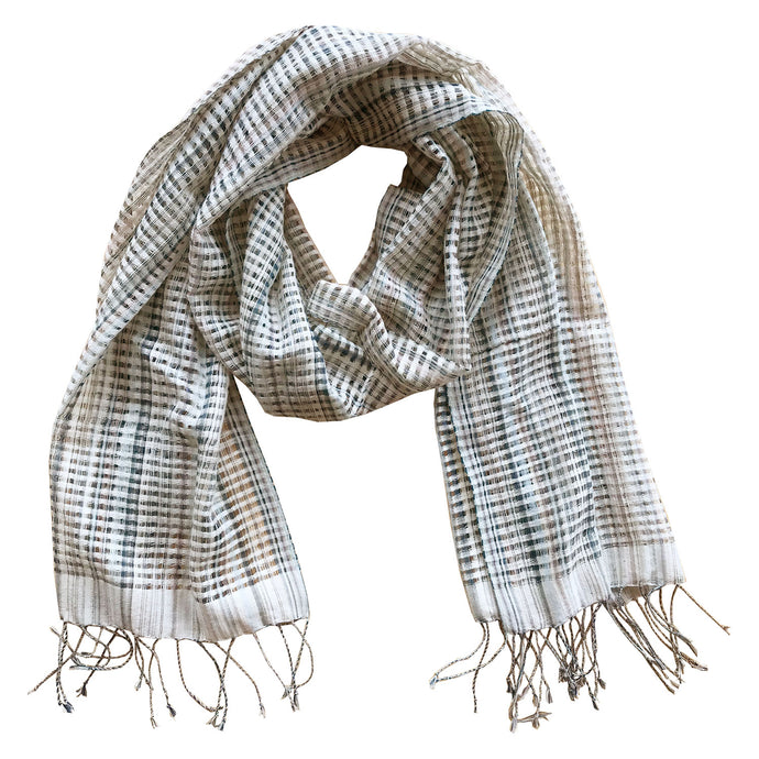 Handwoven cotton scarf, Chimmuwa, Fair Fashion