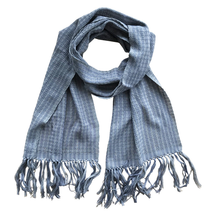 Whispering Stripes Scarf - Handwoven Cotton
