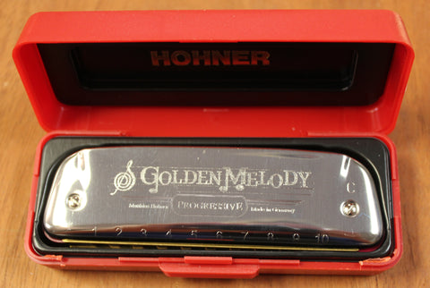 Hohner 542 Golden Melody Diatonic 10 Hole Harmonica