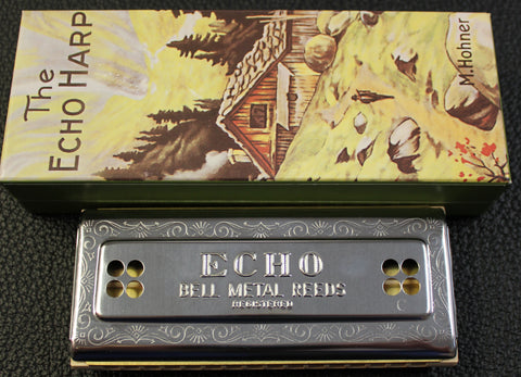 Hohner 54/64 Echo Double Sided Harmonica w/Box