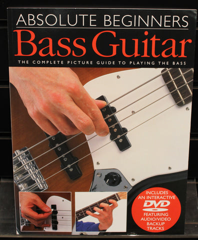 Absolute Beginners: Bass Guitar Method Book/DVD Pack - Dr. Guitar Music, Watertown, NY 315-782-3604