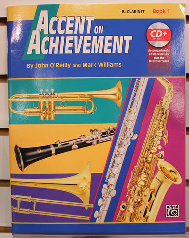 Accent on Achievement Clarinet Book 1 Band Method w/CD