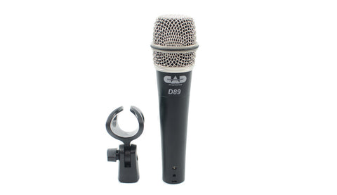 CAD Audio D89 Premium Supercardioid Dynamic Instrument Microphone - Dr. Guitar Music, Watertown, NY 315-782-3604