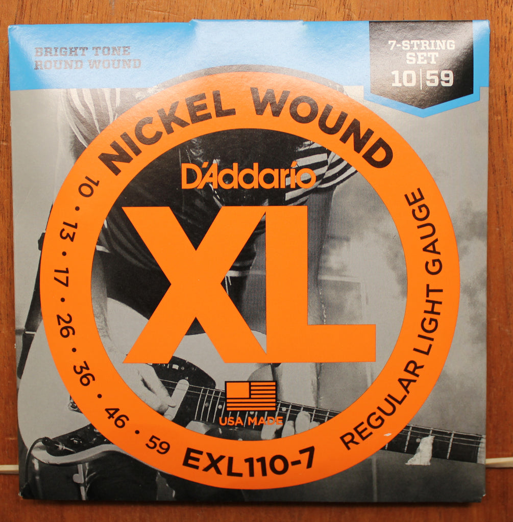 D'Addario XL110-7 Nickel Round Wound 7 String Electric Guitar Strings - Dr. Guitar Music