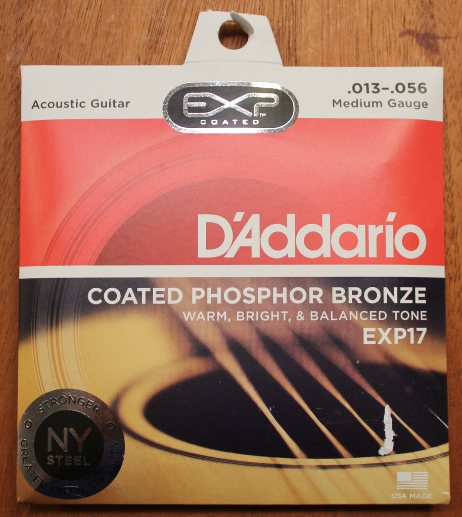 D'Addario EXP17 Coated Phosphor Bronze Medium 13-56 Acoustic Guitar Strings - Dr. Guitar Music
