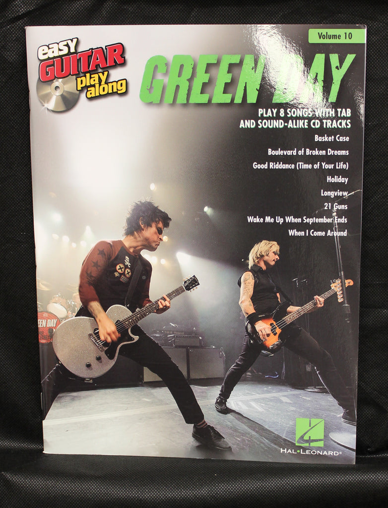 Green Day Easy Guitar Play-Along Volume 10 TAB Songbook Audio Online