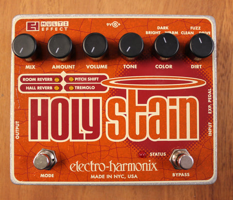 Electro-Harmonix Holy Stain Distortion/Reverb/Pitch/Tremolo Multi-Effect Guitar Effect Pedal