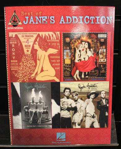 Best of Jane's Addiction Guitar Recorded Versions TAB Songbook