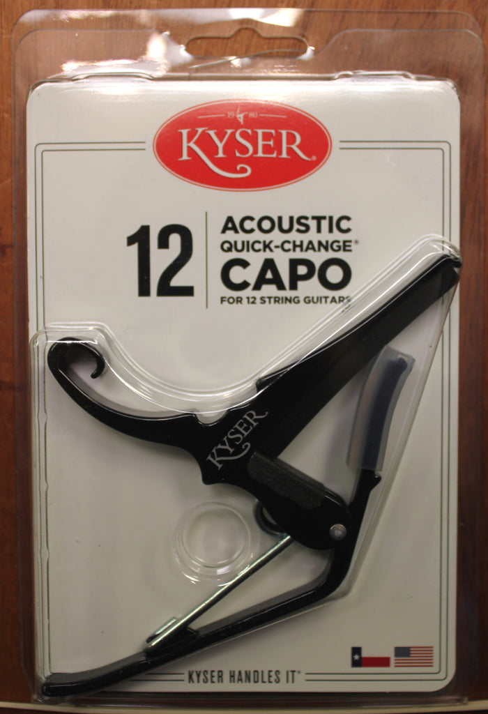 Kyser Quick-Change 12-String Guitar Capo Black - Dr. Guitar Music, Watertown, NY 315-782-3604