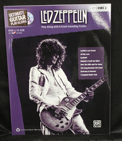 Ultimate Guitar Play-Along: Led Zeppelin, Volume 2 Play Along Authentic Guitar TAB Book & CD-ROM