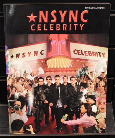 *NSYNC - Celebrity: Piano/Vocal/Chords Songbook 2001 - Dr. Guitar Music, Watertown, NY 315-782-3604