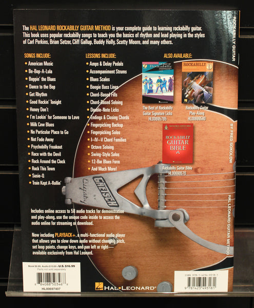 Hal Leonard Rockabilly Guitar Method Softcover Book Audio Online TAB