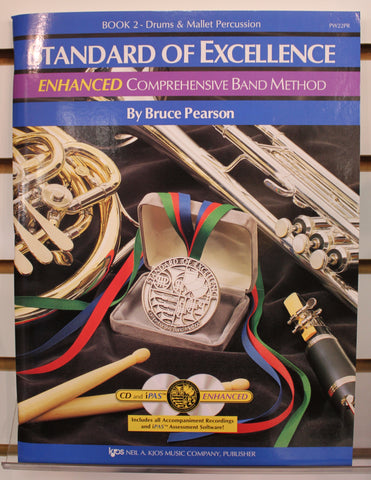 Standard of Excellence ENHANCED Book 2 - Drums & Mallet Percussion Band Method Book