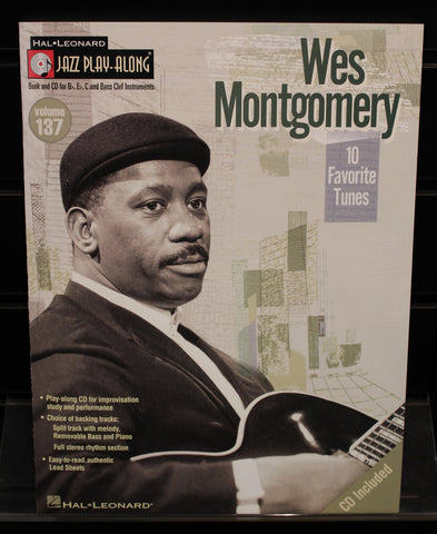Wes Montgomery Jazz Play-Along Volume 137 Softcover w/CD Songbook - Dr. Guitar Music, Watertown, NY 315-782-3604