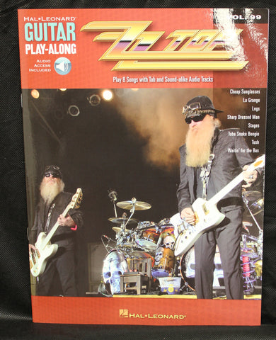 ZZ Top Guitar Play-Along Volume 99 TAB Songbook Audio Online