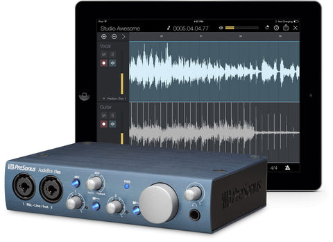 PreSonus AudioBox iTwo 2x2 USB/iPad Digital Interface Recording System - Dr. Guitar Music, Watertown, NY 315-782-3604